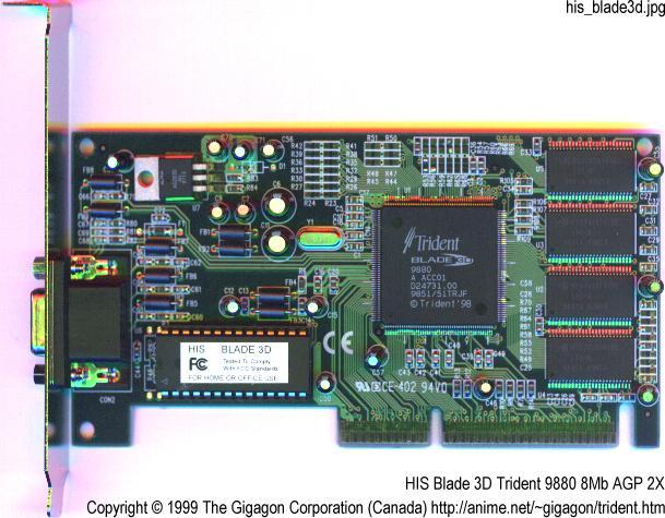Jaton Trident 9880 PCI 8MB SGRAM Video Controller Card
